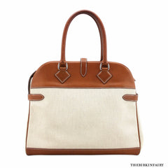 Hermes Atlas Bag in Barenia and Canvas Toile