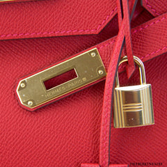 Hermes Rouge Casaque Birkin w/ Gold Hardware NEW!