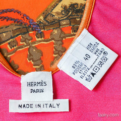 Hermes Scarf Printed Bathing Suit Size 40 *New!