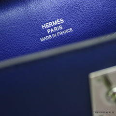 "Hermes Blue Electric Kelly ""Danse"" w/ Palladium Hardware Swift Leather!"