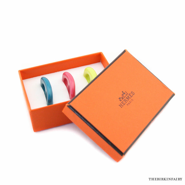Hermes Tribord Set of Three Scarf Rings for your Twillies, New with Box!