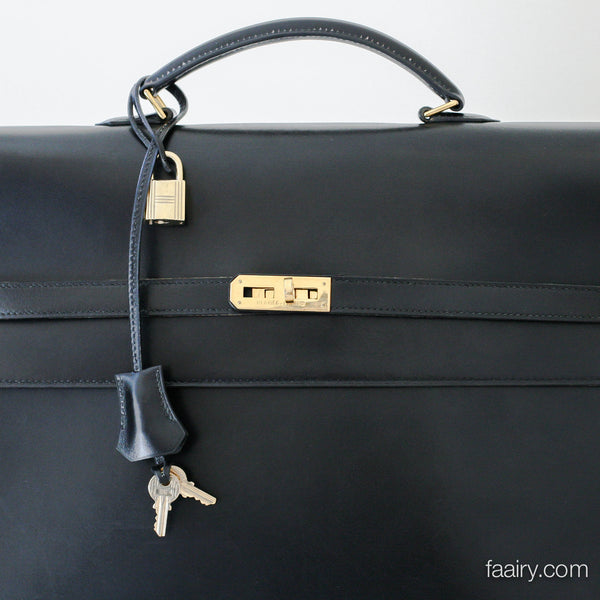 a48e6b1ad9bd ... good hermes kelly depeche briefcase black w gold hardware cb885 c16ac