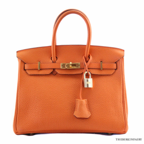 Hermes Orange 25cm Birkin w/ Gold Hardware