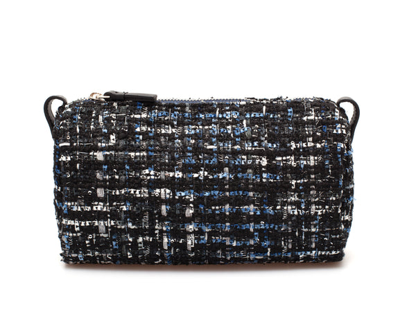 Cosmetic Pouch | Jade ⋅ Tweed ⋅ Black