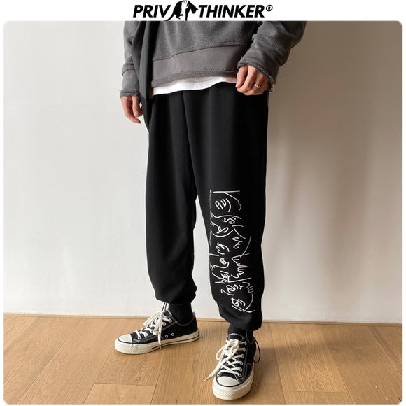 Privathinker Men Spring Print Streetwear 2020 Harem Pants Mens Collage Casual Hip Hop Sweatpants Male 4 Colors Trousers Clothing
