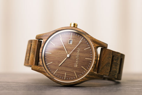 Valentine's day gift wood watch