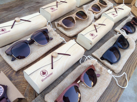 Valentine's day gift wood sunglasses