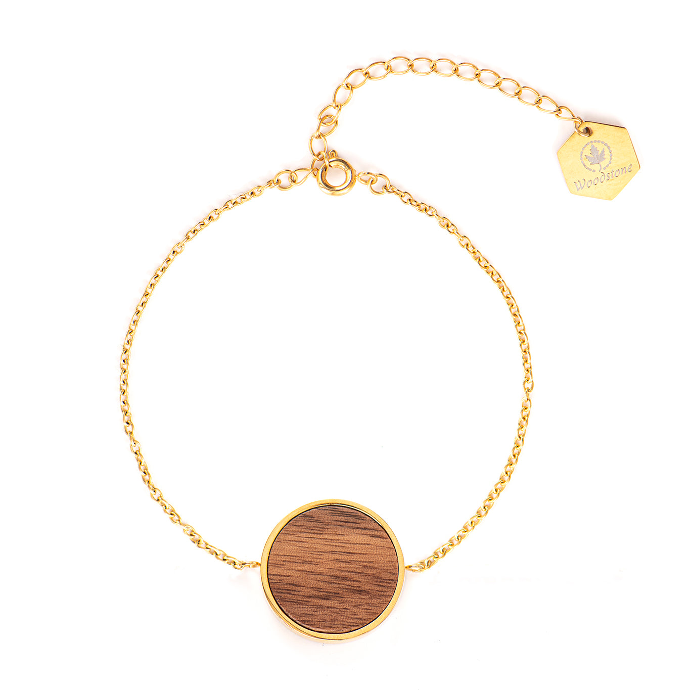 Daisy Walnut - Gold Bracelet