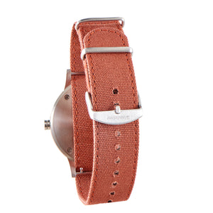 Troy Rosewood Canvas Mens Wooden Watch Back