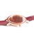 Woodstone Serenity Rosewood Women's Wooden Watches - Rosegold Side