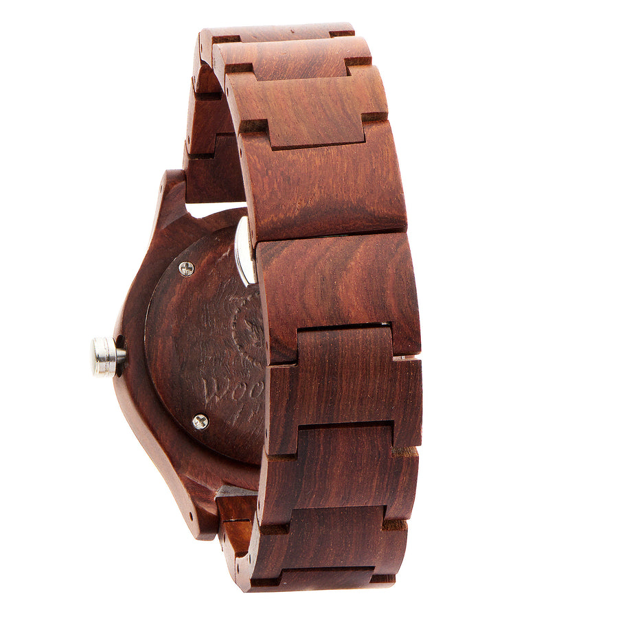 Woodstone Troy rosewood men's wooden watch