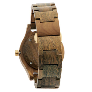 Troy green sandal wood wooden watch