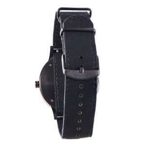Troy Black Sandalwood Canvas Wooden Watch Back