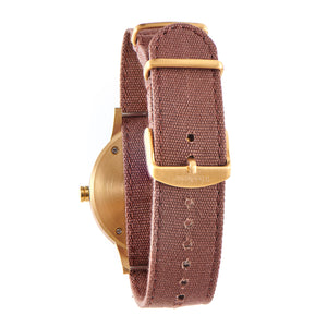 Troy Walnut Canvas Strap Wooden Watch Back