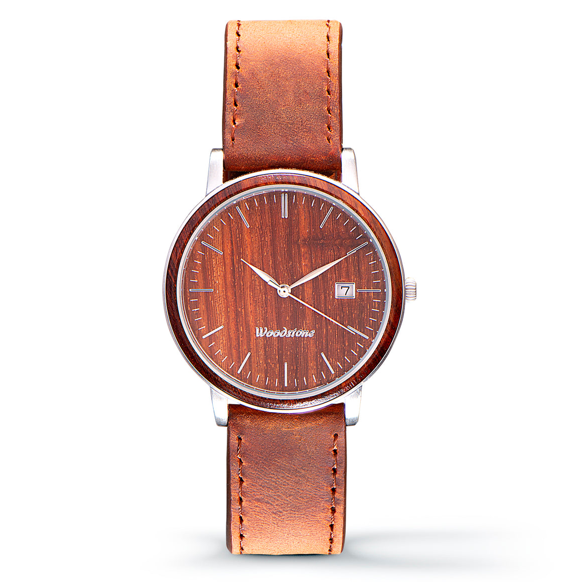 Florence rose wood watch silver