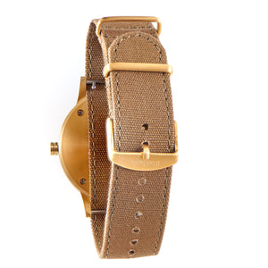Troy Green Sandalwood Canvas Wooden Watch Back