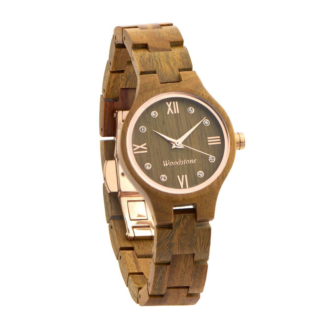 Queen green sandal wood wooden watch