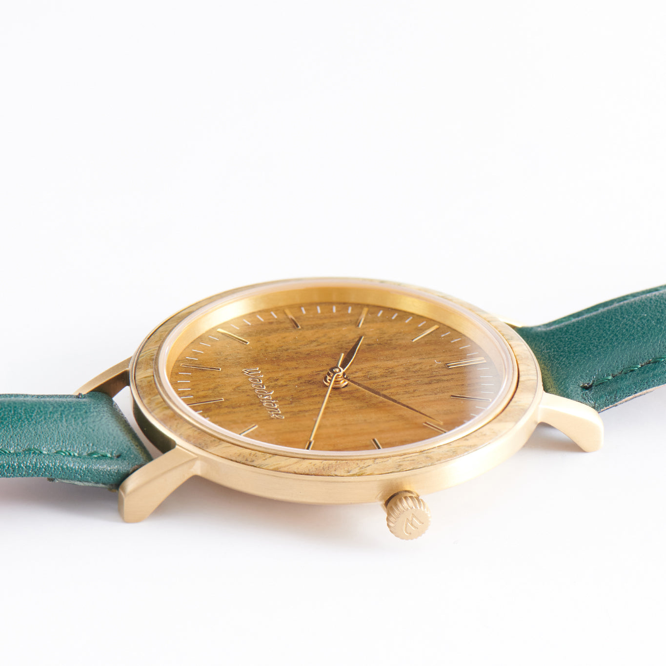 Serenity Green Sandalwood - Gold Women's Wood Watch