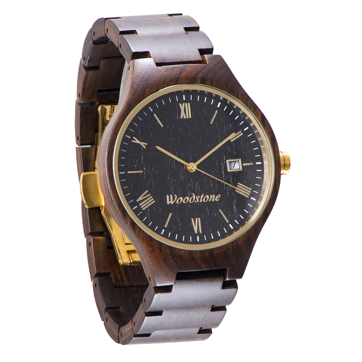 Rome black sandalwood wood watch