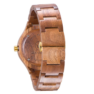 Rome walnut wood watch back