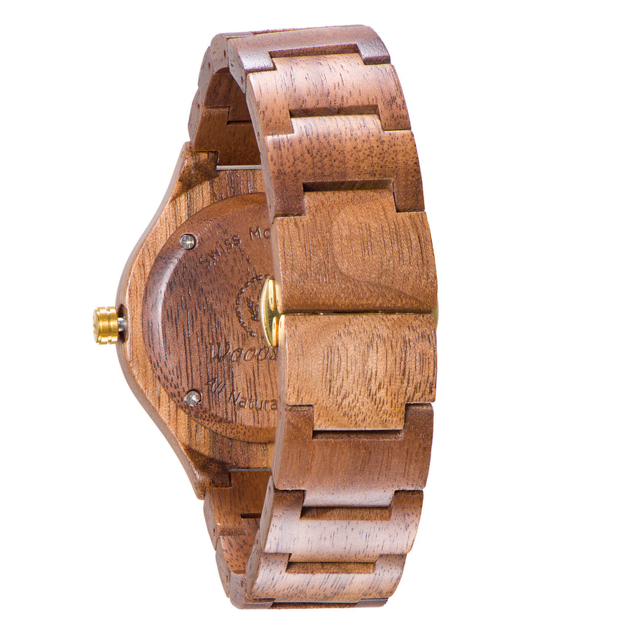 Rome walnut wood watch