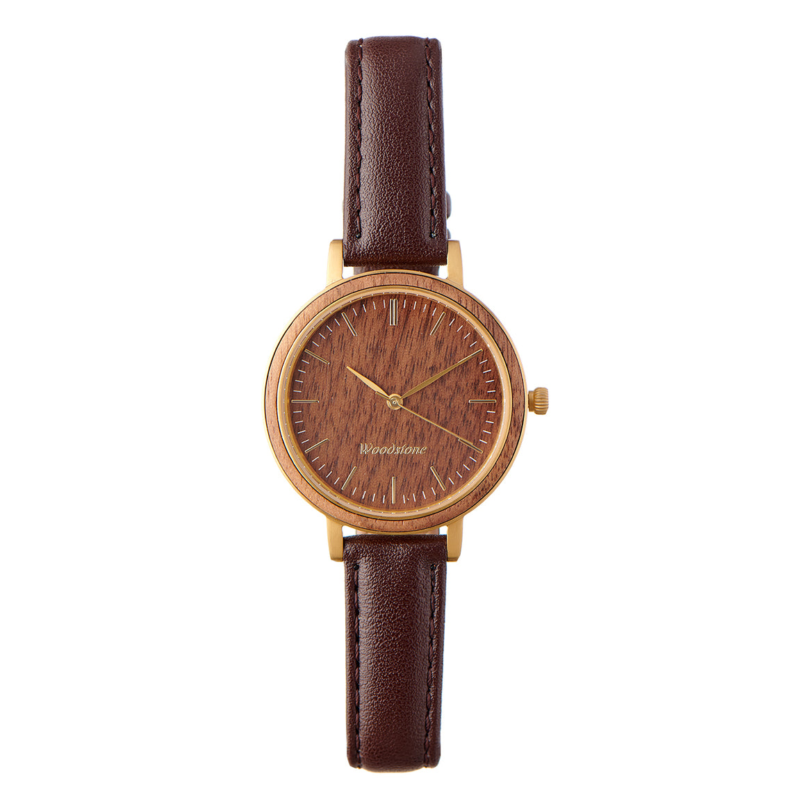 Woodstone Serenity Walnut Women's Wooden Watches - Gold