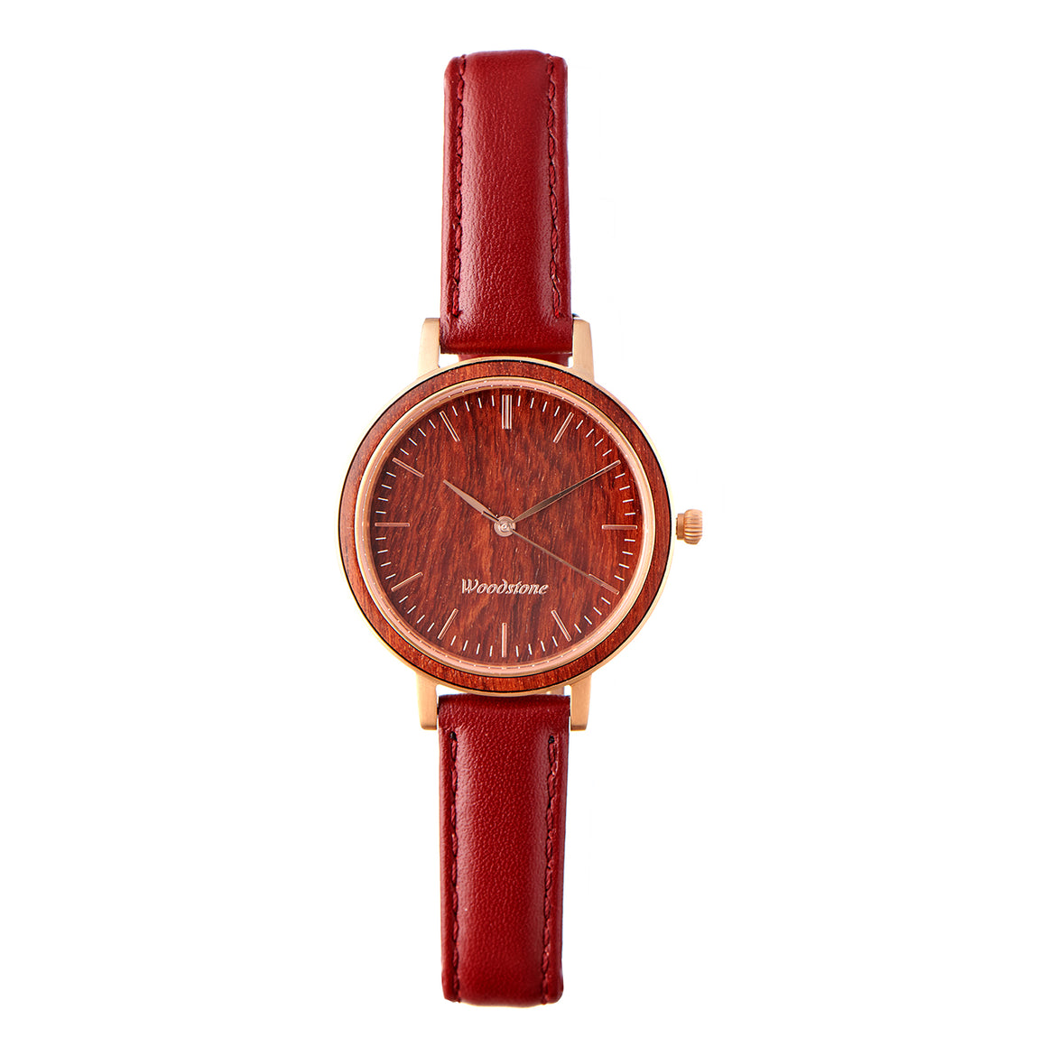 Woodstone Serenity Rosewood Women's Wooden Watches - Rosegold