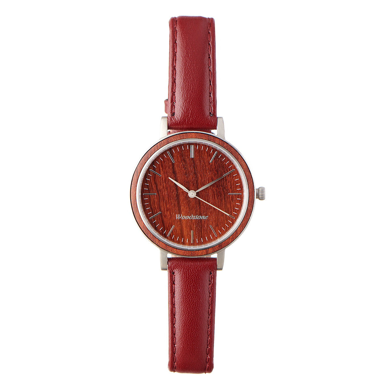 Woodstone Serenity Rosewood Women's Wooden Watches - Silver