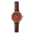 Woodstone Serenity Walnut Women's Wooden Watches - Silver