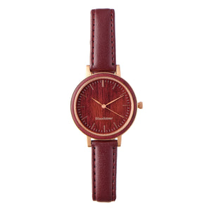 Woodstone Serenity Purpleheart Women's Wooden Watches - Rosegold