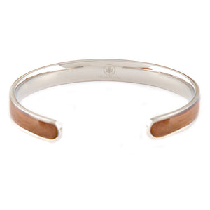 Diana Walnut - Silver Bangle Back