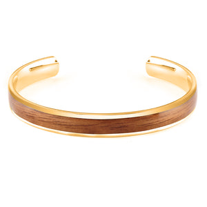 Diana Walnut - Gold Bangle