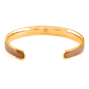 Diana Walnut - Gold Bangle Back