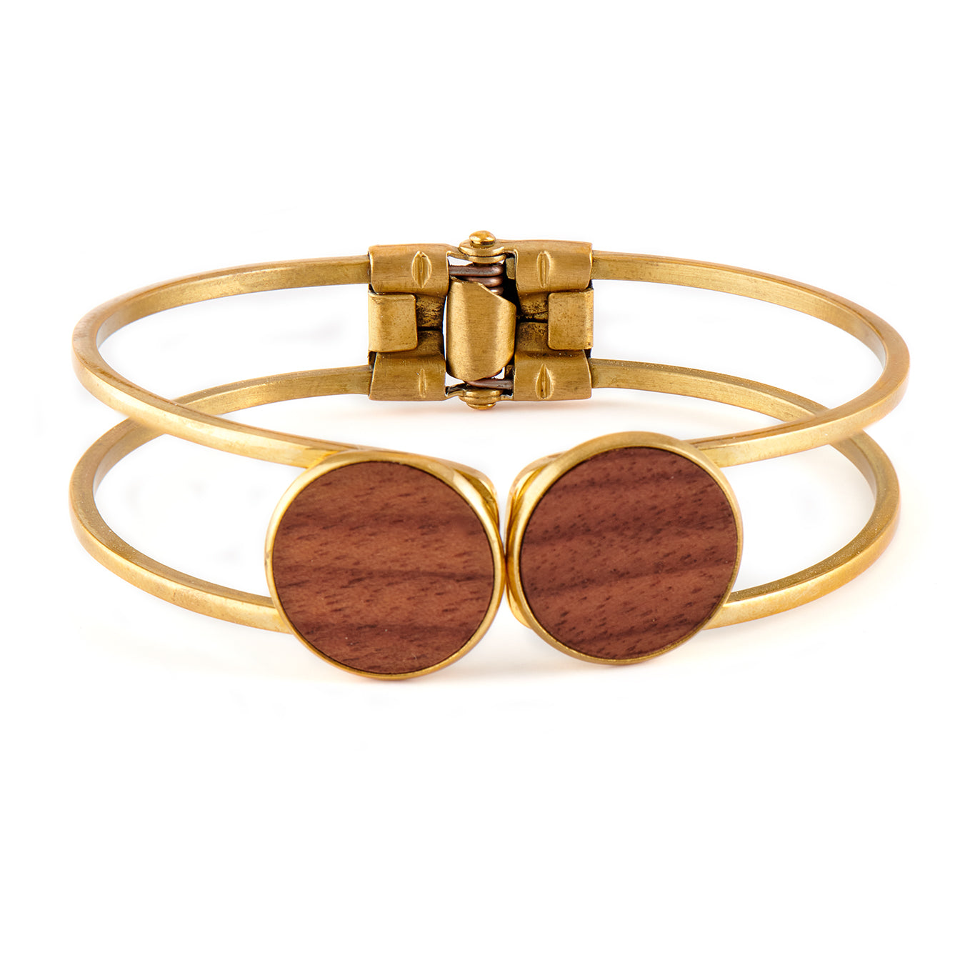 Olivia Walnut - Gold Bangle