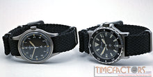 Load image into Gallery viewer, TIMEFACTORS BLACK BRAIDED NATO