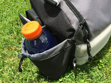 Load image into Gallery viewer, The Throwback Sack - Frisbee Disc Golf Bag with Cooler and Extra Padding, Comfortable Strap - Holds 12-15 Discs and 6 Cold Drinks