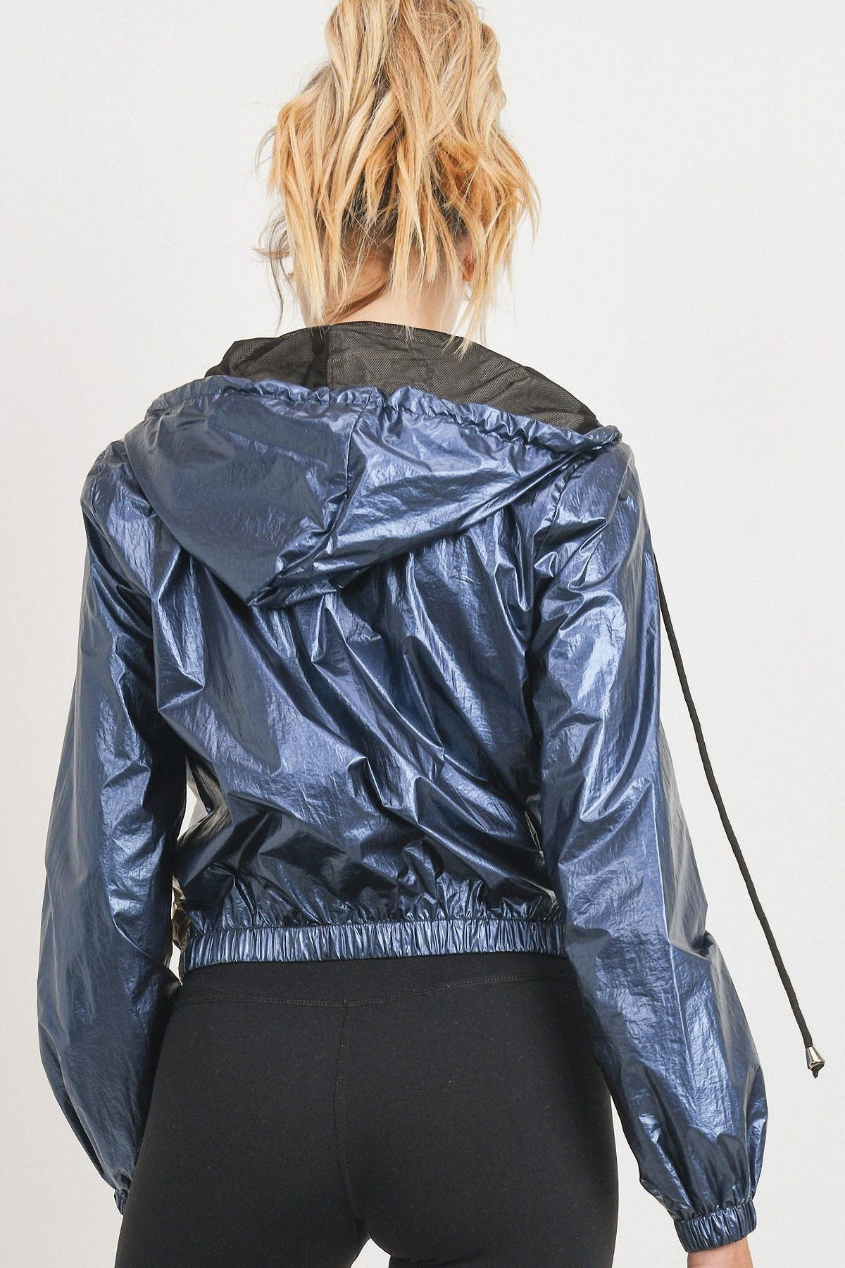 Metallic Colorblock Jacket