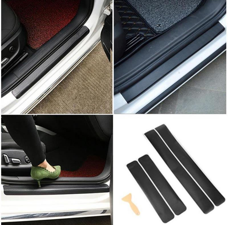 Car Craft - Carbon Car Door Sill Stickers