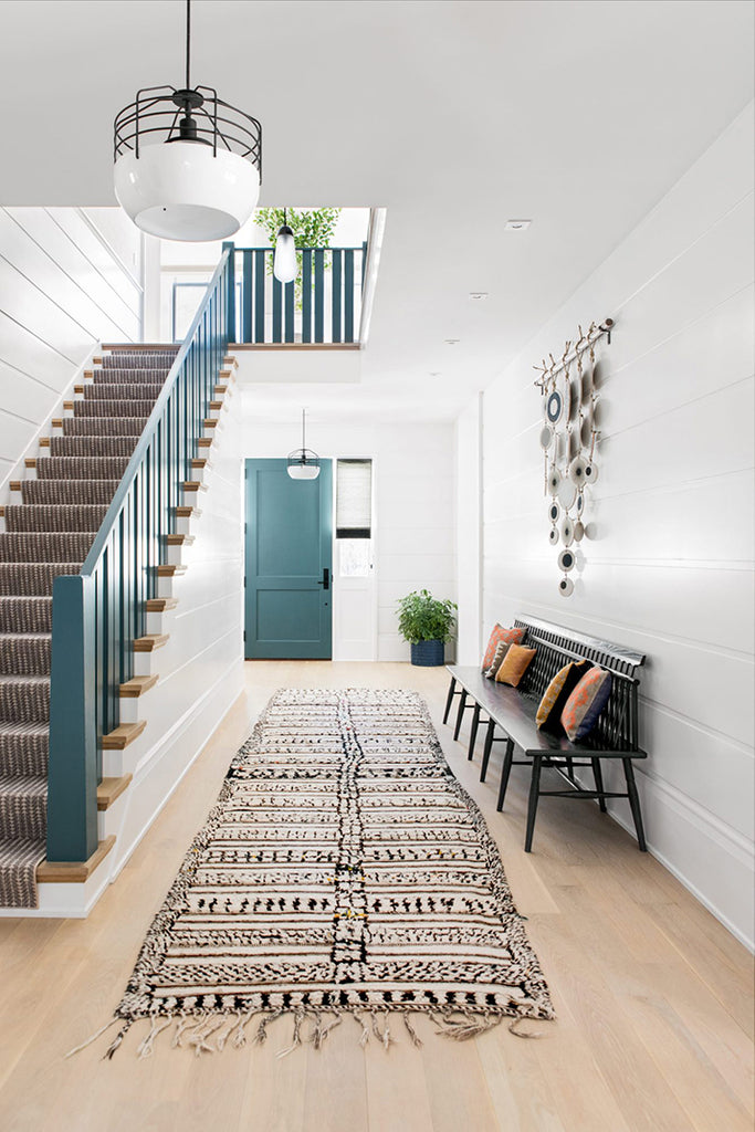 Get the look: black and blue entryway