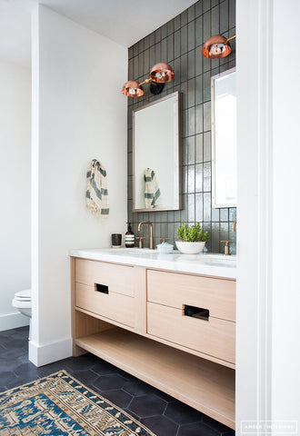 Slate and Copper Bathroom:  Get the Look