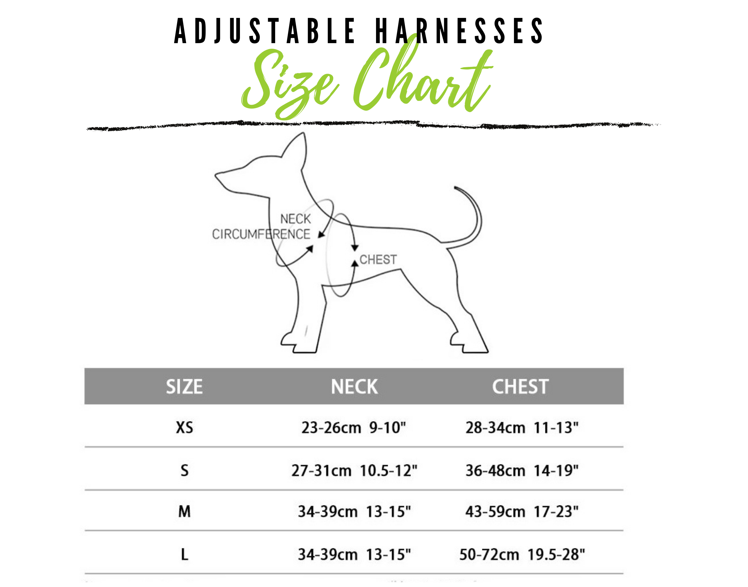 Adjustable dog harness size