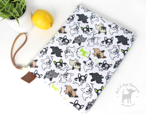 Signature French Bulldog Pouch Wristlet for dog lovers