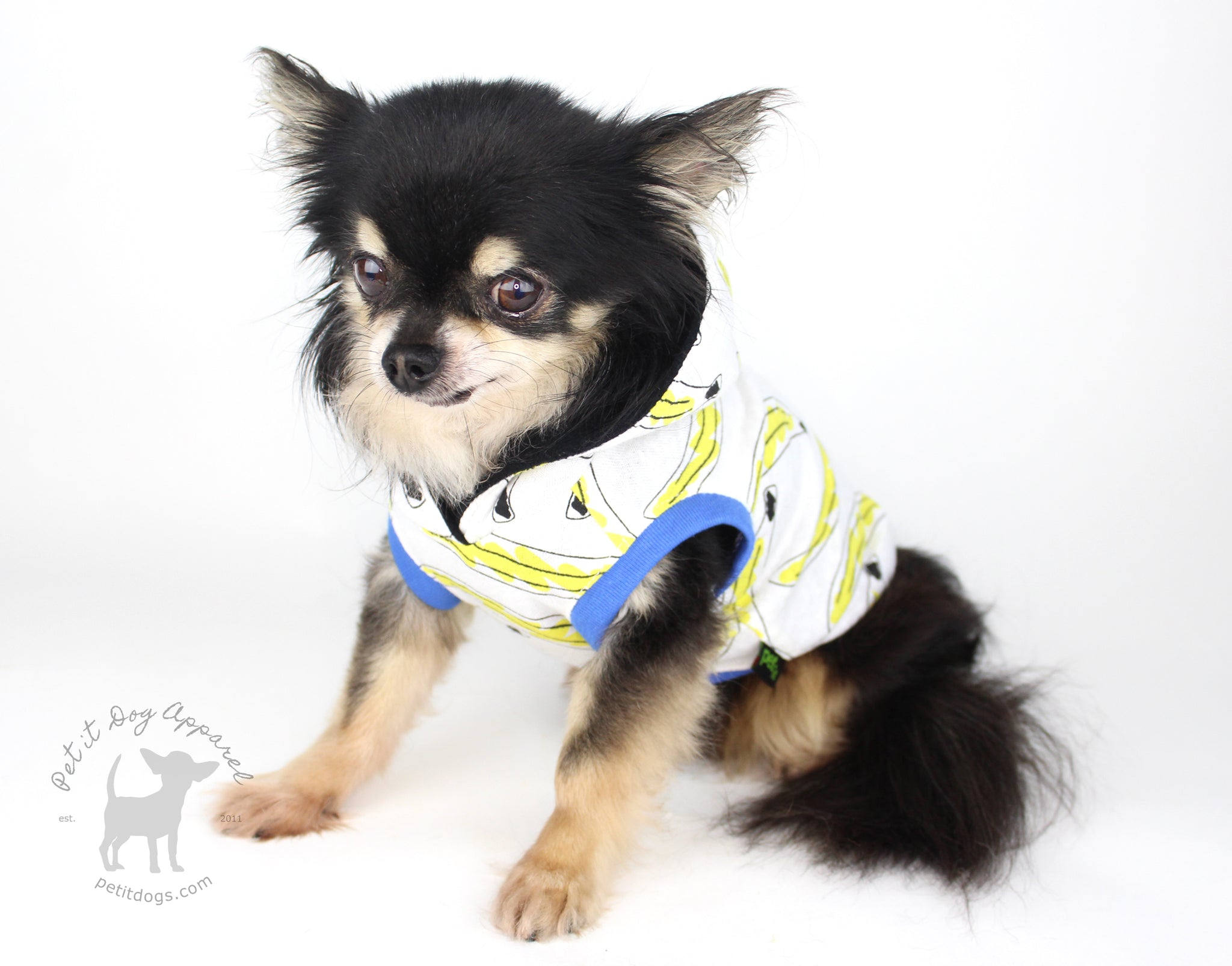 Banana dog hoodie pet it dog apparel