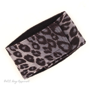 Belly Band for male Dogs Stop Marking Inside Leopard Print