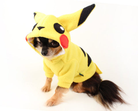 Pikachu Inspired dog costume pokemon