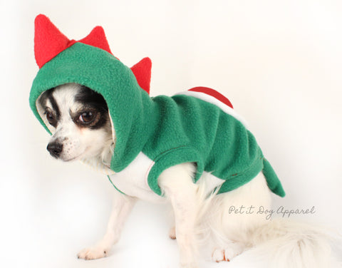 Dog Costume Yoshi Super Mario World inspired dino dog hoodie