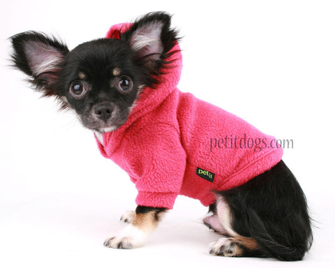 Dog Hoodie Hot Pink Polar fleece warm Dog Sweater for all breeds!