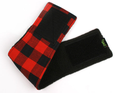 Belly Band for male Dogs Stop Marking Inside Red Buffalo Plaid