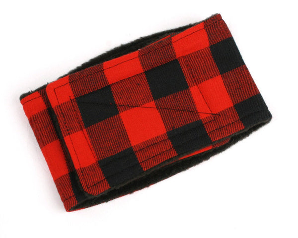 Belly Band for male Dogs help stop Marking Inside Buffalo Plaid print