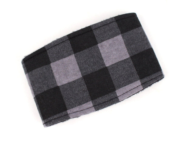 Belly Band for male Dogs Stop Marking Inside Grey Buffalo Plaid